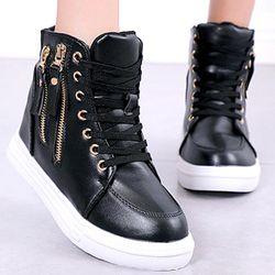 Giày sneaker nữ tăng chiều cao 6cmthiết kế đơn giản dể phối đồ và êm chân-700