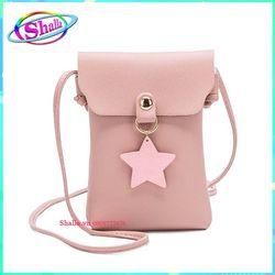 Ví nữ mini đựng điện thoại đeo chéo thời trang dọc nắp hình ngôi sao IK3 Shalla giá sỉ