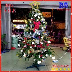 Cây thông trang trí Giáng Sinh có đầy đủ phụ kiện - 1m8 giá sỉ