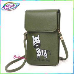 Túi đựng điện thoại đeo chéo nữ thời trang dọc nắp hình ngựa H43 Shalla giá sỉ