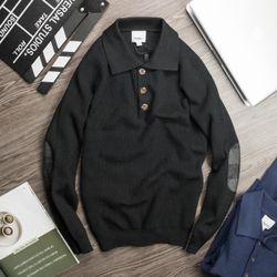 áo len cho nam cực dày chăm chút từng đường may màu đen giá sỉ