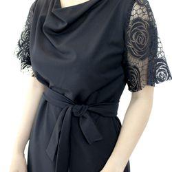 Đầm đen phối ren bông giá sỉ
