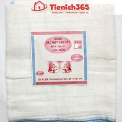 Khăn tắm xô trắng kiba 5 lớp kt 7070 giá sỉ