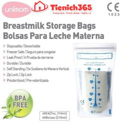 Túi trữ sữa unimom 210ml hộp 10 túi giá sỉ