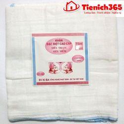 Khăn tắm xô trắng kiba 6 lớp kt 7070 giá sỉ
