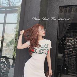 Đầm body thun lụa Gucci dày đẹp M204