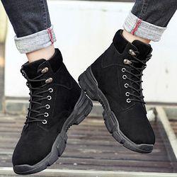 Giày boot nam có cổ da pu lộn thiết kế châu âu cực ngầu và êm chân-800 giá sỉ