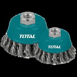 Total - TAC32031-2 Chén cước hay chổi cước thép xoắn 75mm - TAC320312 ĐỒNG GIÁ 35K giá sỉ