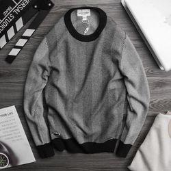 áo len nam thêu cá sấu cực dày dặn màu đen giá sỉ