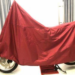 Tấm bạt dù che trùm xe máy màu đỏ loại bền tốt GD0037