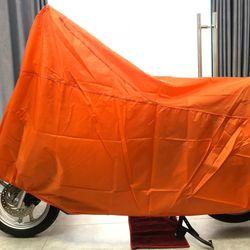 Tấm bạt dù che trùm xe máy màu cam loại bền tốt GD0035