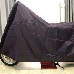Tấm bạt dù che trùm xe máy màu tím loại bền tốt GD0036