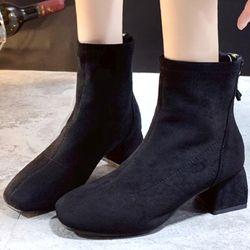 Giày boot nữ cổ cao vải dày nhung mịn thoáng không hầm chânphong cách châu âu-850 giá sỉ