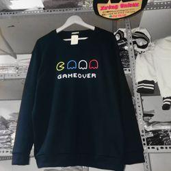 Áo sweater gameover nỉ form rộng nam nữ bao che quần giá sỉ