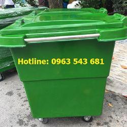 Xe gom rác 1000 lít thùng nhựa đựng rác dung tích 1000 lít giá sỉ
