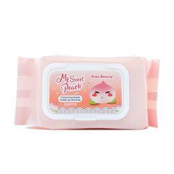 Khăn giấy ướt tẩy trang Kiss Beauty my sweet peach 120 tờ No2173-03 giá sỉ