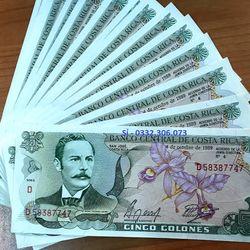 Tiền Mua May Bán Đắt - 5 Colones Của Costa Rica Lì Xì Tết Quà Tặng Tết giá sỉ