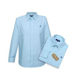 Áo Sơ Mi Vải For coton Tay dài Cổ bẻ Chuẩn Văn Phòng Màu xanh FO003 giá sỉ