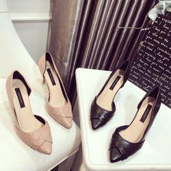 Giày cao gót bít khoét eo mẫu mới giá sỉ