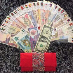 Bộ Tiền 52 Tờ 28 Nước làm lì xì quà tặng giá sỉ