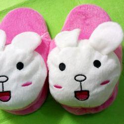 dép thỏ bông dép bông hình thú trẻ em dài 20cm giá sỉ