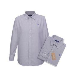 Áo Sơ Mi Vải For coton Tay dài Cổ bẻ Chuẩn Văn Phòng Màu xanh FO002 giá sỉ