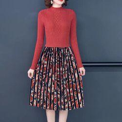 Đầm len dày dặn chân váy xoè giá sỉ
