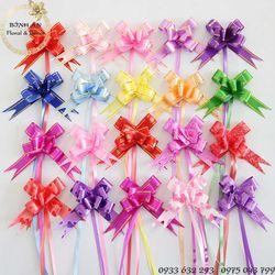 100 cái Nơ rút gói quà size 1526cm Sỉ lẻ Phụ kiện gói hoa và quà tặng Bình An BANO15 Phối màu ngẫu nhiên giá sỉ