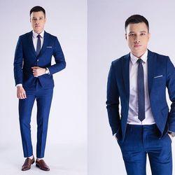 vest nam lịch lãm màu blu giá sỉ