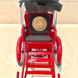 Xe Xích lô sắt đỏ trang trí nhỏ giá sỉ