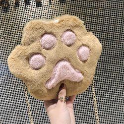 Túi đeo chéo hình bàn chân chó siêu dễ thươnglông mềm mượt-110