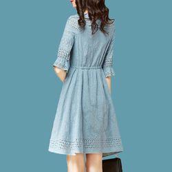 Đầm jean cao cấp dáng xoè giá sỉ, giá bán buôn