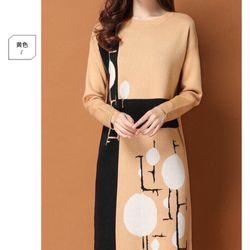 Đầm len hoạ tiết hình giá sỉ