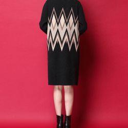 Đầm len hoạ tiết sóng giá sỉ, giá bán buôn