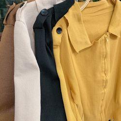 Áo khoác len cổ bẻ giá sỉ, giá bán buôn