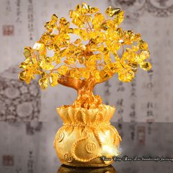 Cây Tài Lộc Đá Thạch Anh 185cm vàng giá sỉ giá bán buôn giá sỉ