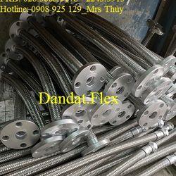Chống rung inox cố định mặt bích sắt - Khớp nối mềm toàn thân inox - Ống nối mềm inox 304