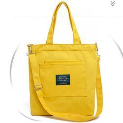 Túi nữ bản to đeo vaiđể được giấy A4 và nhiều sách vở họcvải bố dể giặc sạch-350