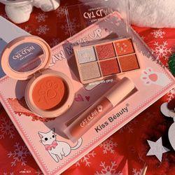 Bộ 3 Trang điểm Cat Claw Make Up sỉ 85k/bộ gồm Má hồng - Màu Mắt - Son kem giá sỉ