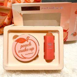 Set peach make up kiss beauty 2 in 1 giá sỉ