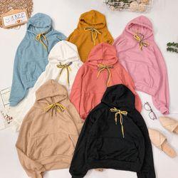 Áo hoodie trơn dây mix màu Mix đồ siêu cưng giá sỉ