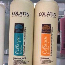 Cặp dầu gội xả Colatin 500ml dưỡng chất tơ tằm tái tạo cấu trúc tóc giá sỉ giá bán buôn giá sỉ