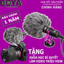 Micro Boya BY-MM1 thu âm cao cấp cho máy ảnh DSLR action camera và điện thoại giá sỉ