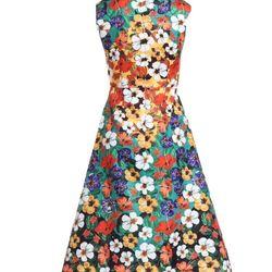Đầm hoa cao cấp dáng xoè giá sỉ