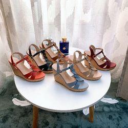 Giày Sandal đế xuồng da tấm cao 9p siêu bền giá sỉ