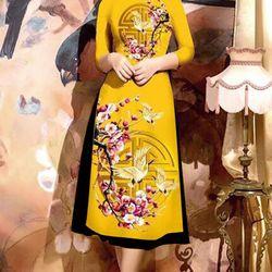 Set áo dài chân váy xòe- MS2019-2AD giá sỉ