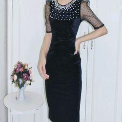 Váy nhung ngọc trai tay bồng cao cấp giá sỉ