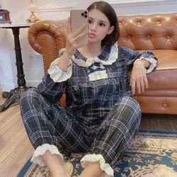 pijama √ đồ bộ mặc nhà tdqd bánh bèo ca rô thô quảng châu giá sỉ