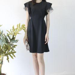 Đầm đen phối lưới giá sỉ