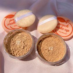 Set Peach Makeup Just Peachy sỉ 48k/set gồm phấn phủ bột má hồng dạng thỏi giá sỉ